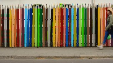 Big pens as a fence in Swinoujscie, Poland