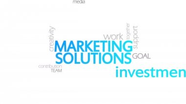 Marketing Solutions, Animated Typography