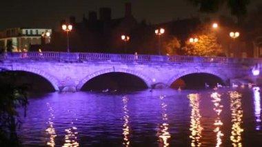 Bridge in Bedford at night