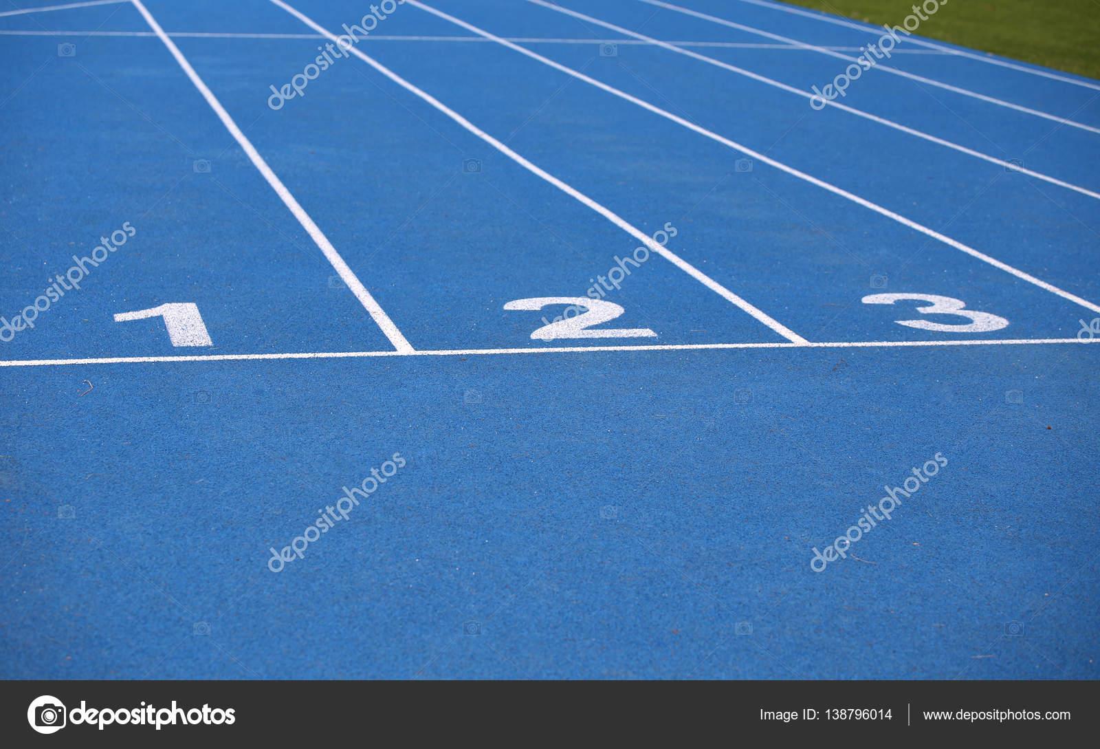 Blue track lanes