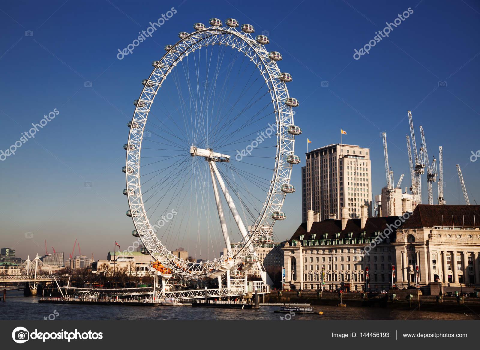 伦敦,英国-2017 年 1 月 26 日︰ edf 能源伦敦眼,英国泰晤士河畔