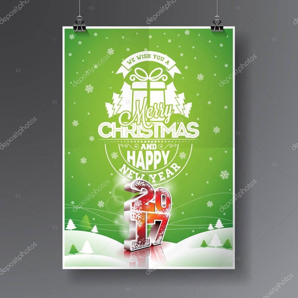 Vektor Frohe Weihnachten und