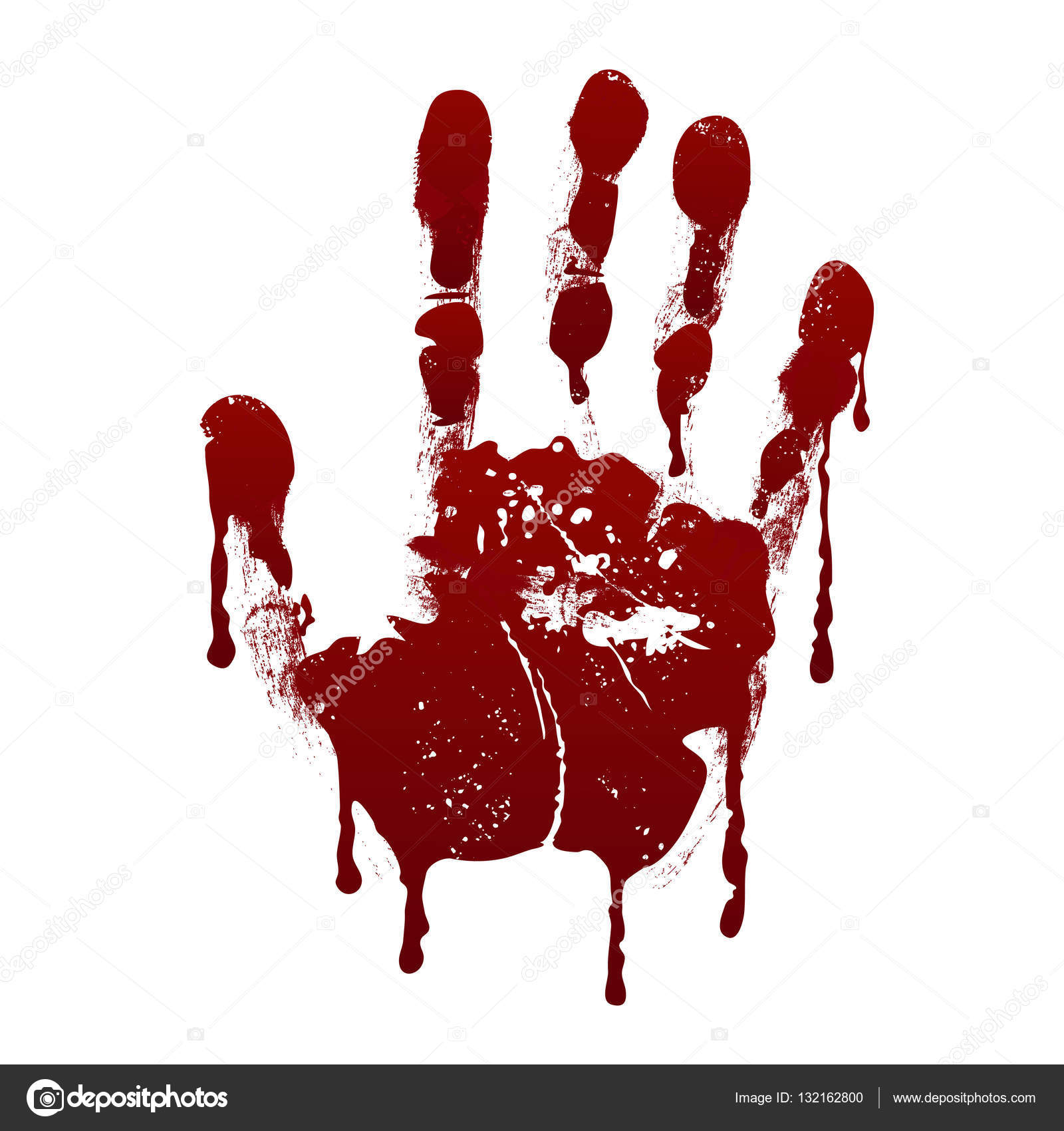 blutiger handabdruck