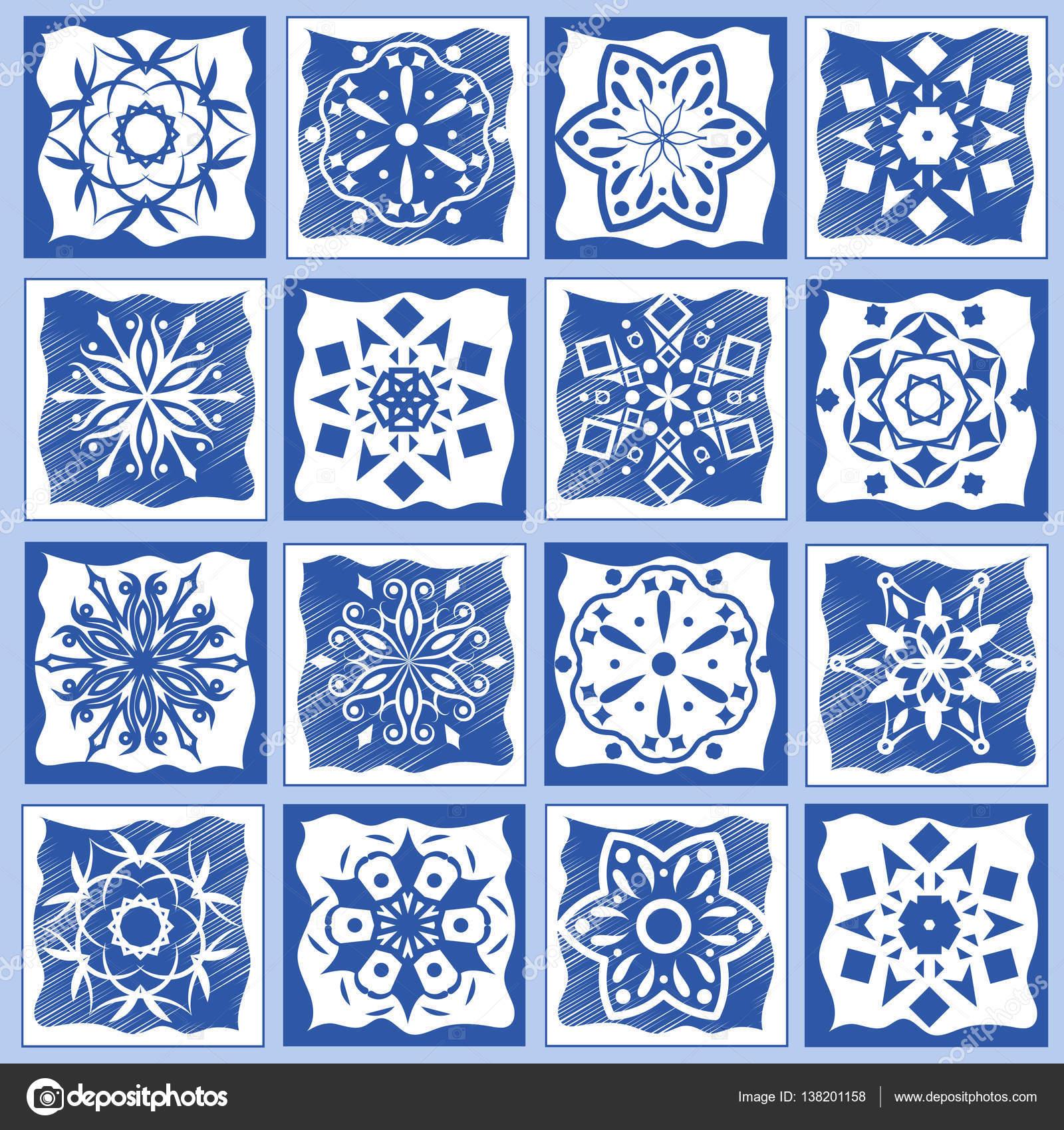 Ilustraci n de vector de azulejos de cer mica vintage - Azulejos de ceramica ...