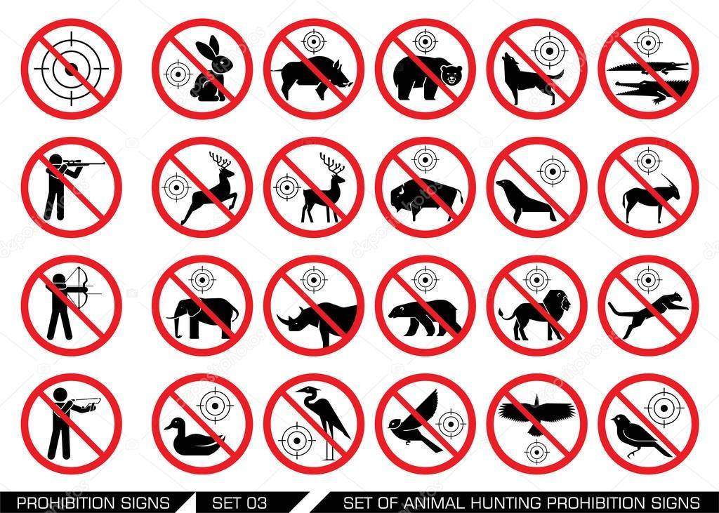 знак запрещающий ловить детенышей диких животных