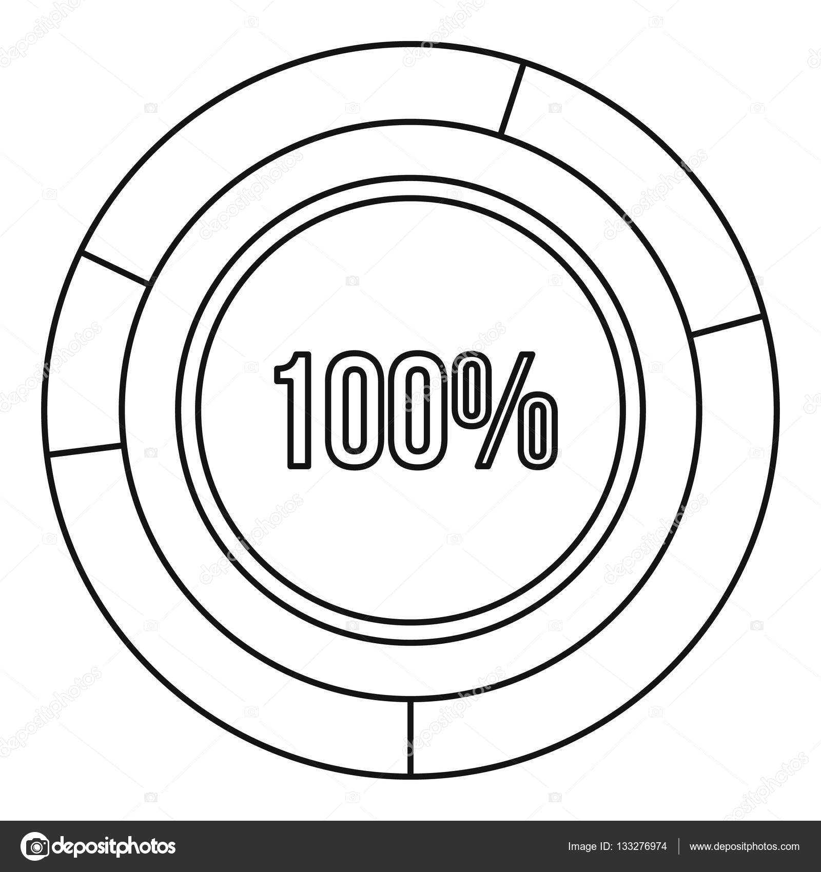 pie chart circle graph 100 percent icon  u2014 stock vector  u00a9 ylivdesign  133276974