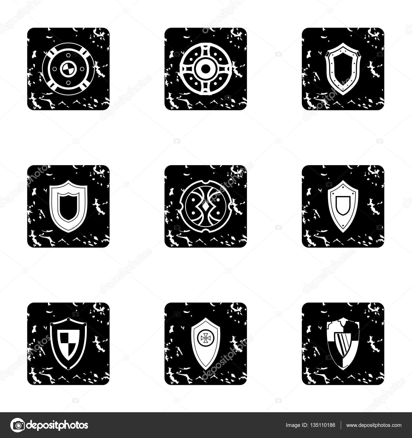 Grunge shield stock vector Illustration of grunge cobweb