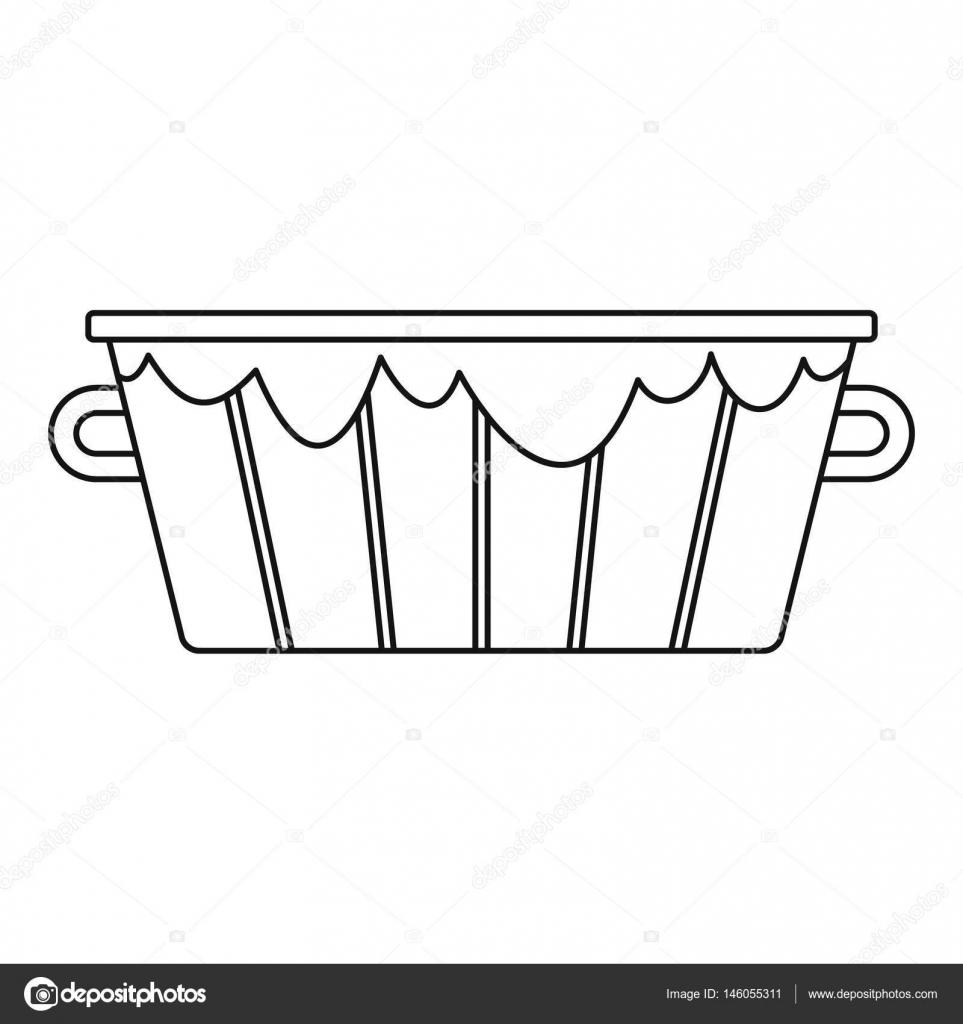 木桶图标.大纲图的 web 的木桶矢量图标– 图库插图
