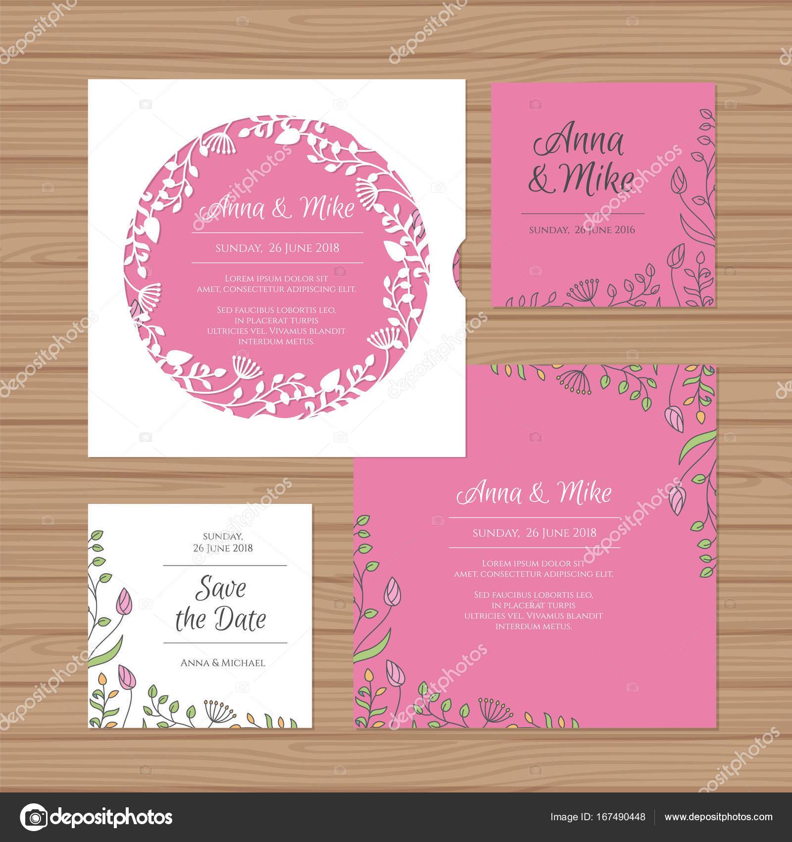 Приглашение на розовую свадьбу