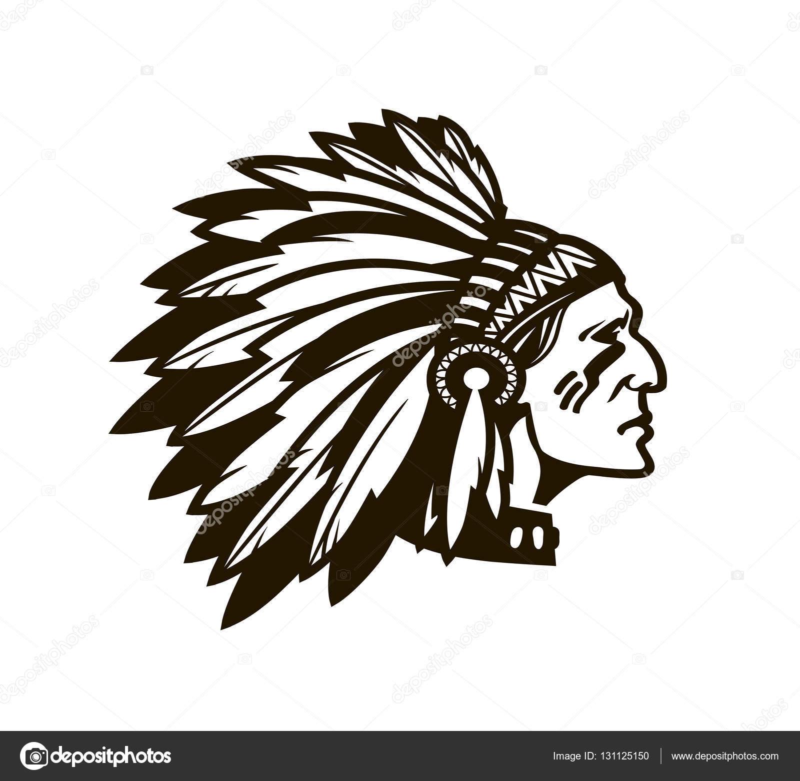 chefe do  u00edndio americano logotipo ou  u00edcone ilustra u00e7 u00e3o Indian Chief Clip Art Indian Motorcycle Logo