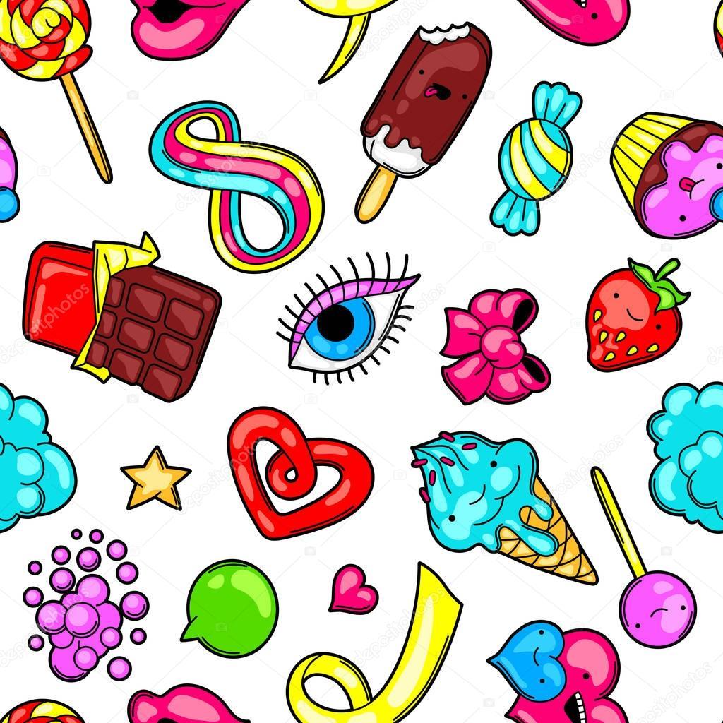 Draw A Plan Patr 243 N Transparente Kawaii Con Dulces Y Caramelos Dulce