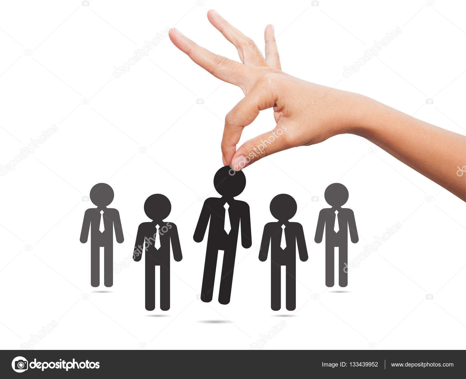 choosing the best candidate concept for the job concept hand pi choosing the best candidate concept for the job concept hand pi stock image