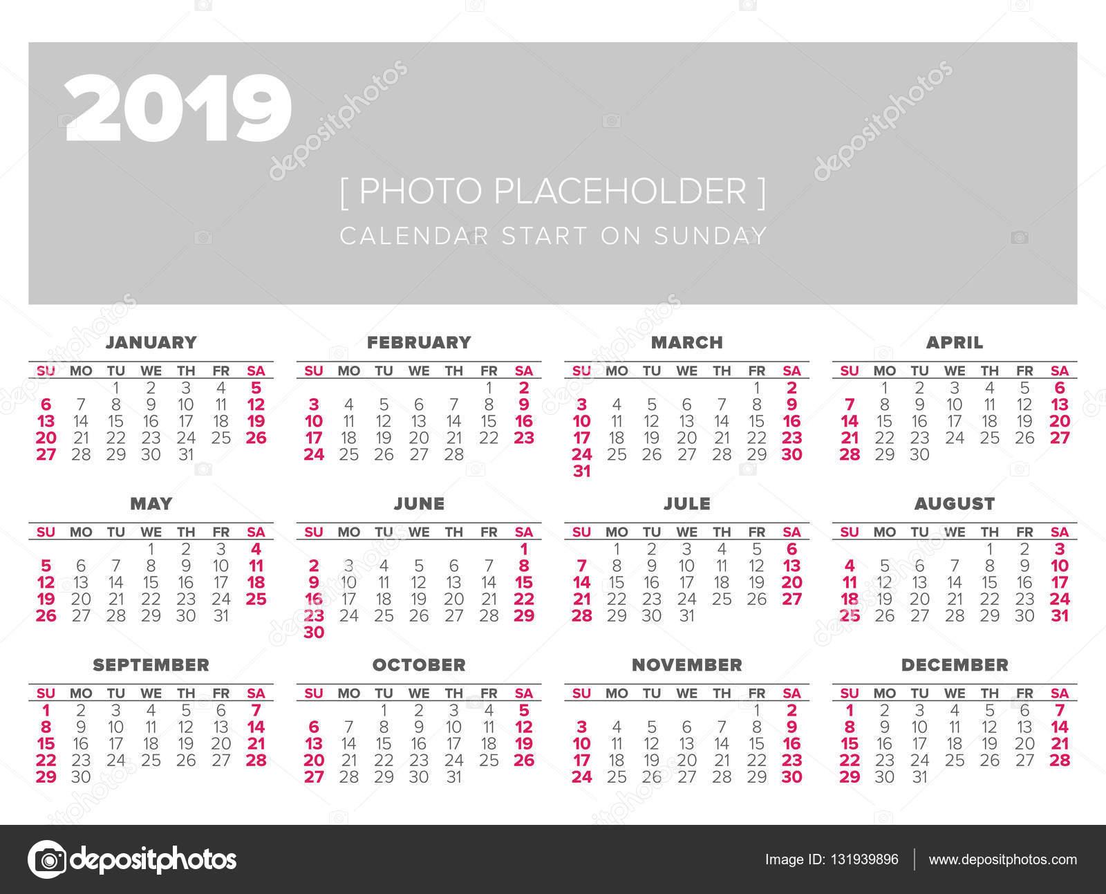 Calendario 2019 Oficial