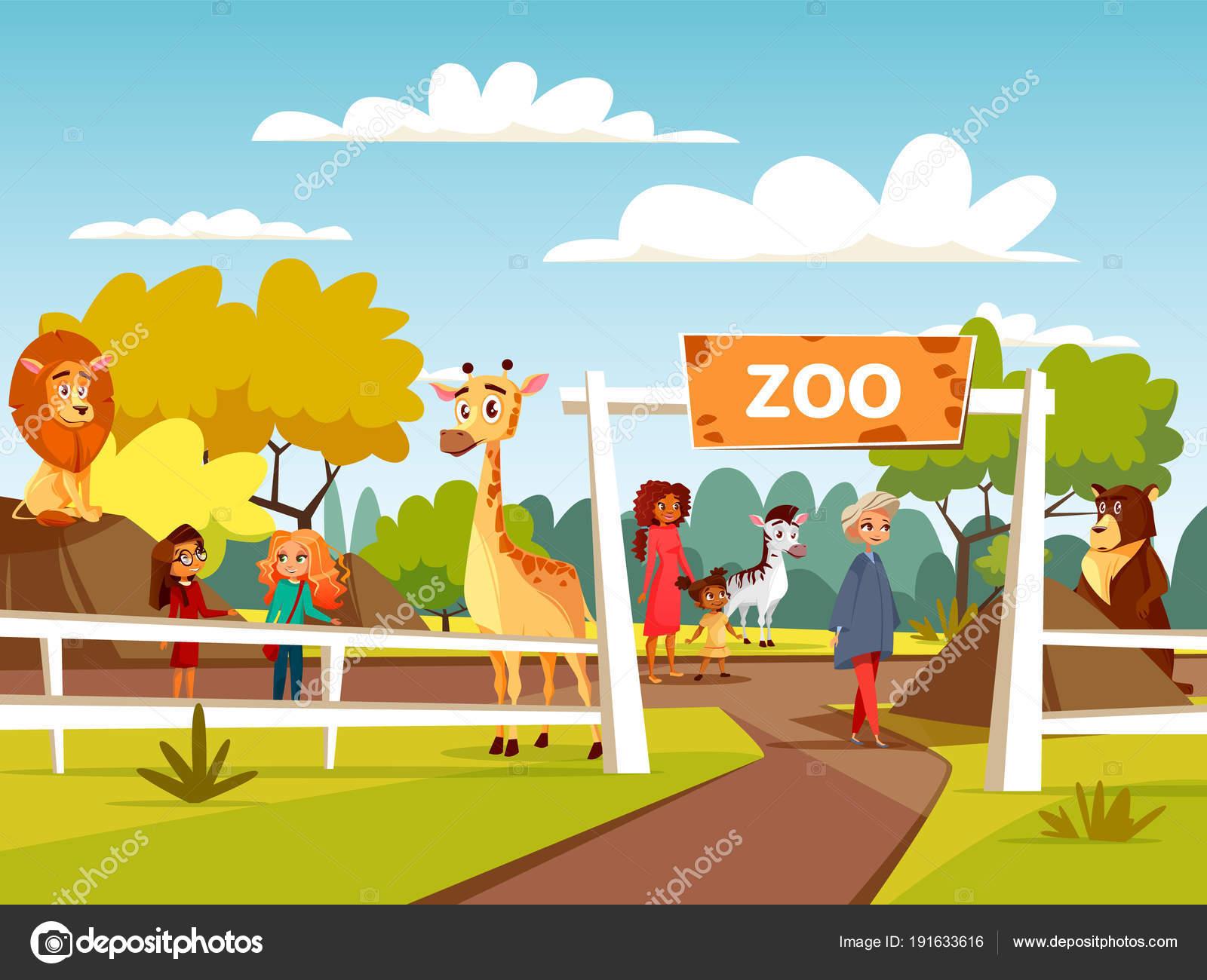 動物園 イラストや