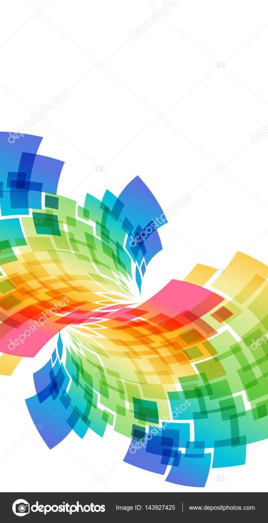 五彩��f�x�_白色背景上的抽象五彩几何元素– 图库插图