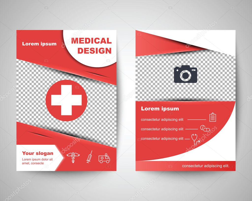 red medical flyer layout template stock vector copy tulpahn  red medical flyer layout template stock vector 126261880