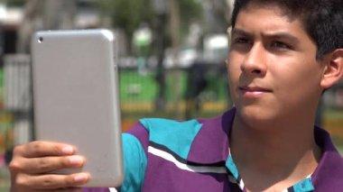 People Filming Video Using Tablet