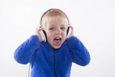 Boy and headphones