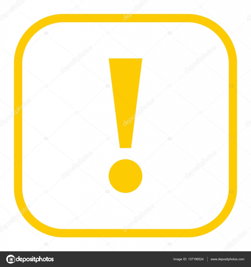 yellow square exclamation mark icon warning sign attention butto stock vector ifeelgood. Black Bedroom Furniture Sets. Home Design Ideas