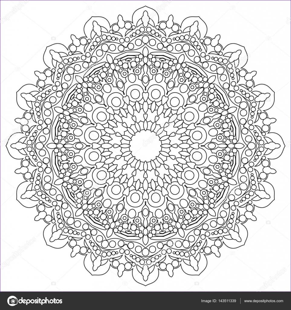 Mod¨le de schéma pour la peinture Coloriage anti stress Contour ornement circulaire de figures géométriques simples Mod¨le pour la broderie