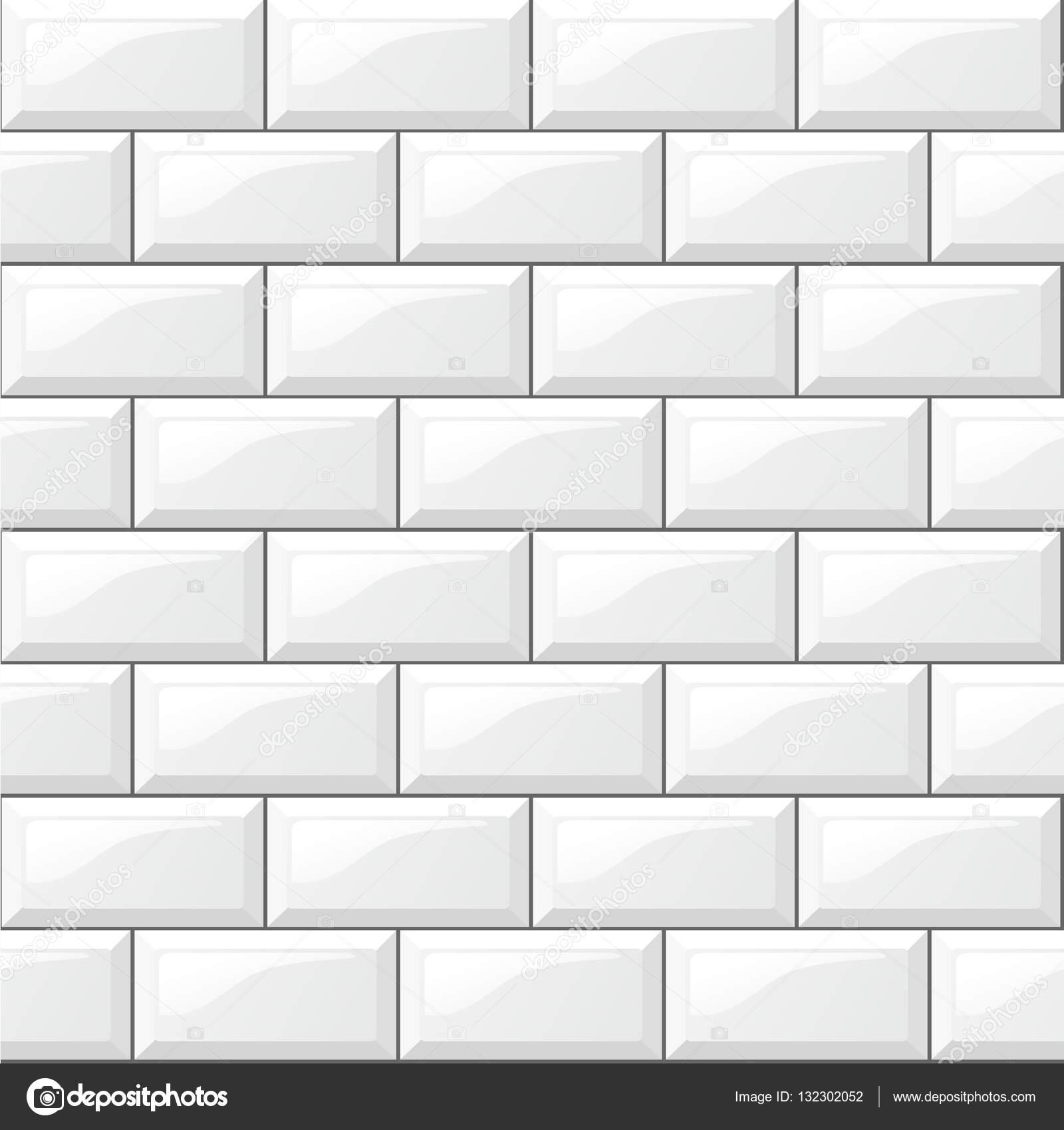 Fundo de azulejos brancos vetor de stock nickylarson for Piastrelle bianche con fughe nere