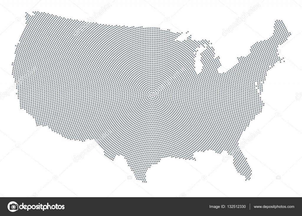 美国地图灰色径向点模式 — 图库矢量图像08 furian