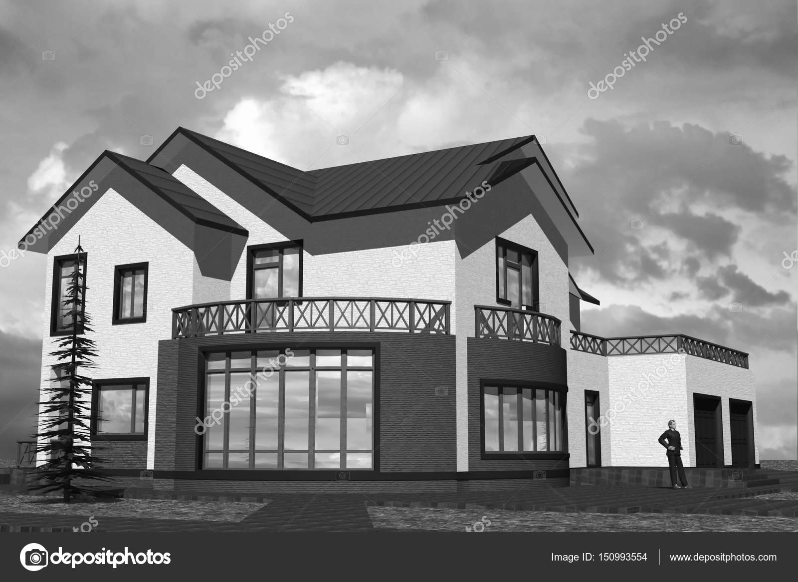 别墅 平面图 1600_1166图片