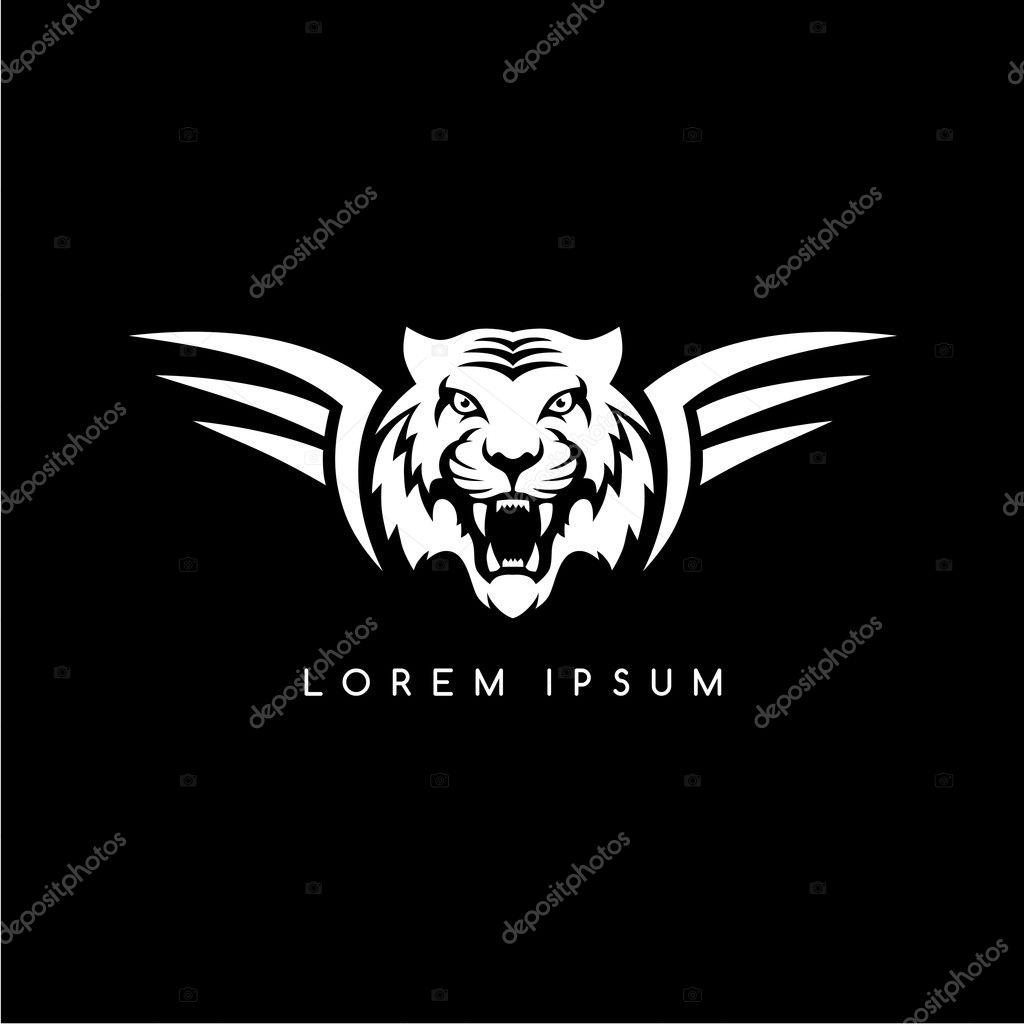 tiger aviator symbol logo � stock vector 169 vectorfirst