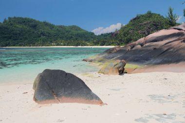 Sea gulf in tropics. Baie Lazare, Mahe, Seychelles