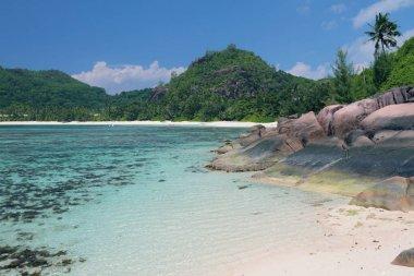 Bay on tropical island. Baie Lazare, Mahe, Seychelles