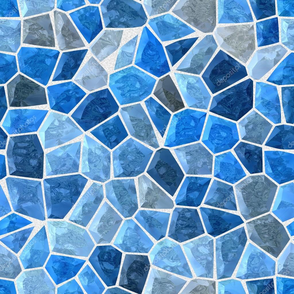 Azul color abstracto irregular pl stico piedra mosaico de for Marmol de color azul