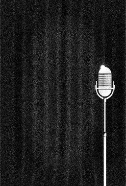 Dark Curtain Karaoke Backdrop