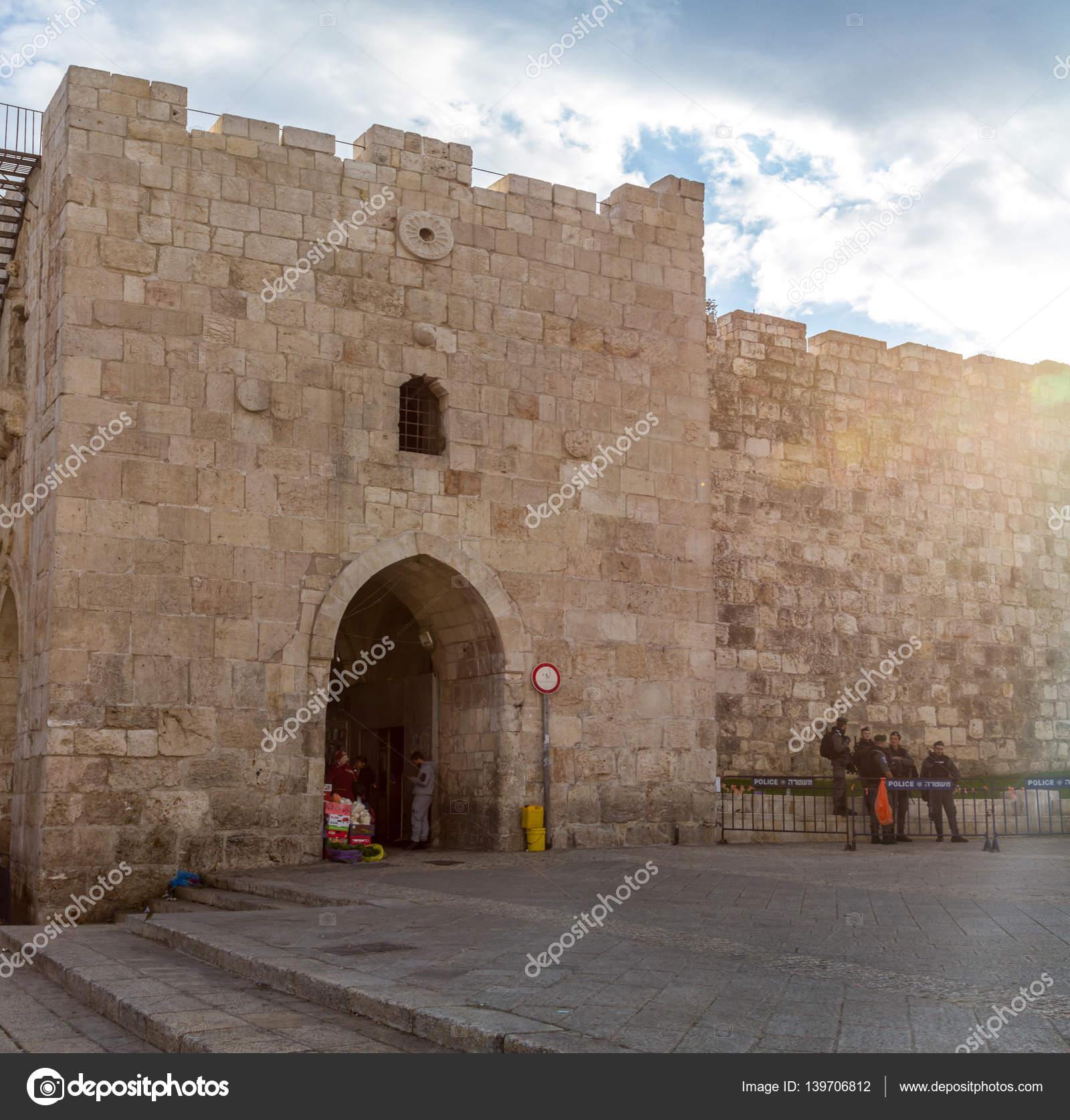 схема старого города иерусалим ворота