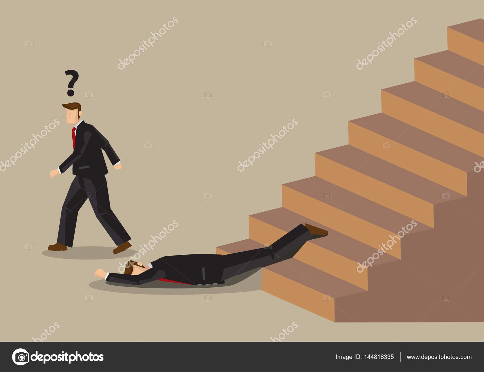 Ca da de escaleras accidente de oficina trabajo de dibujos - Trabajo piso pareja opiniones ...