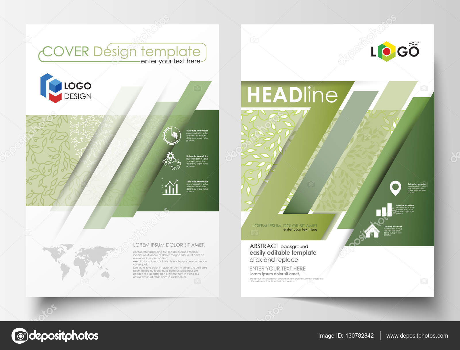 Annual business report cover template  Booklet  brochure cover  poster  presentation  business