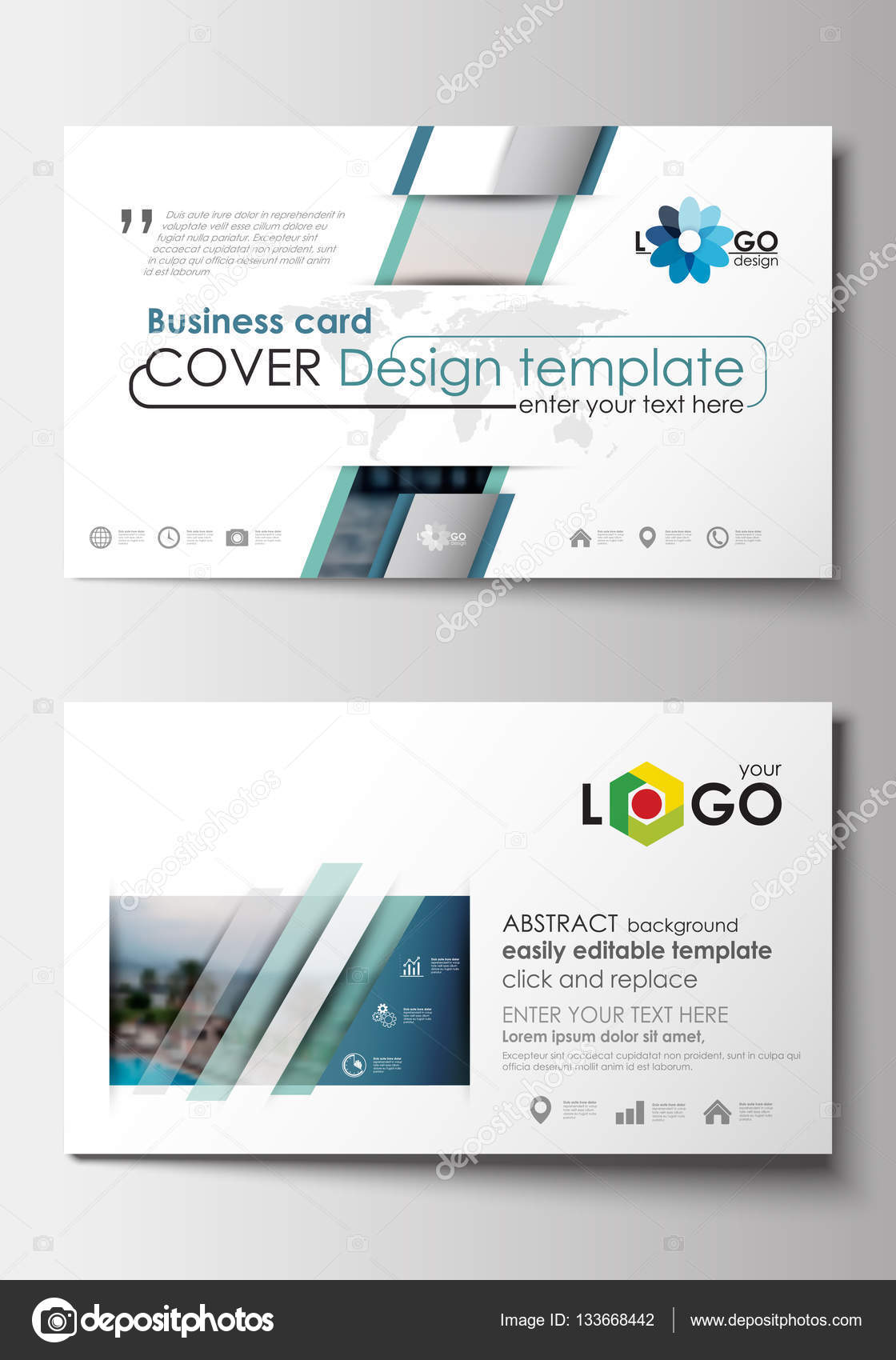 Easy Business Card Template. business card templates flat design ...