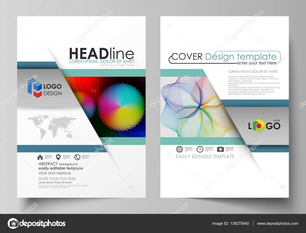 business templates for brochure flyer booklet report cover business templates for brochure flyer booklet report cover template flat vector layout in a4 size colorful design overlapping geometric shapes and
