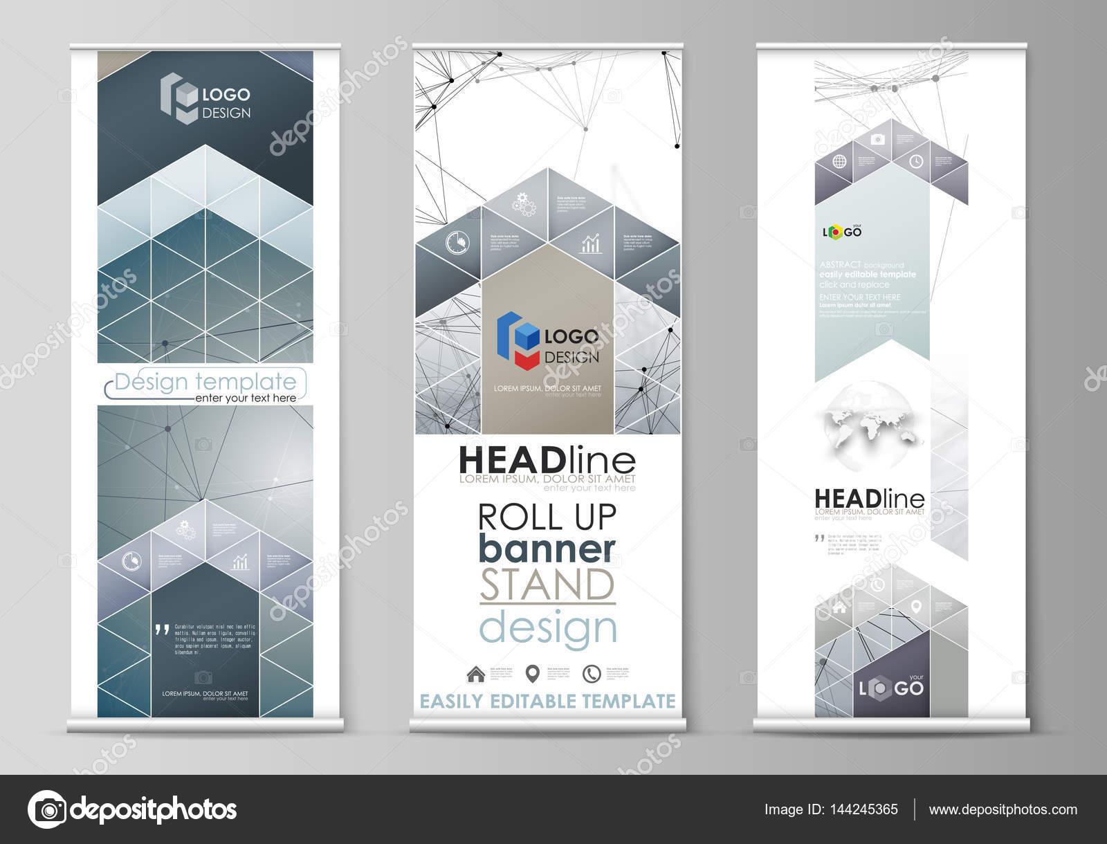 roll up banner steht abstrakte geometrische muster unternehmenskonzept corporate senkrechten vektor flyer - Rentabilittsvorschau Muster