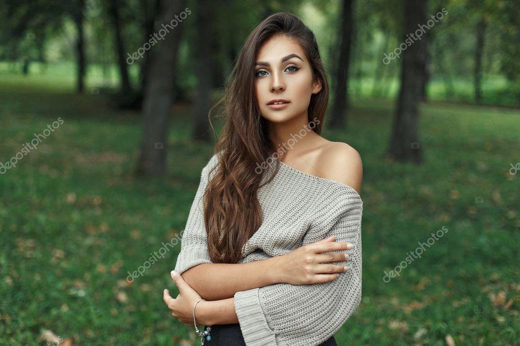 Vacker naken kvinna