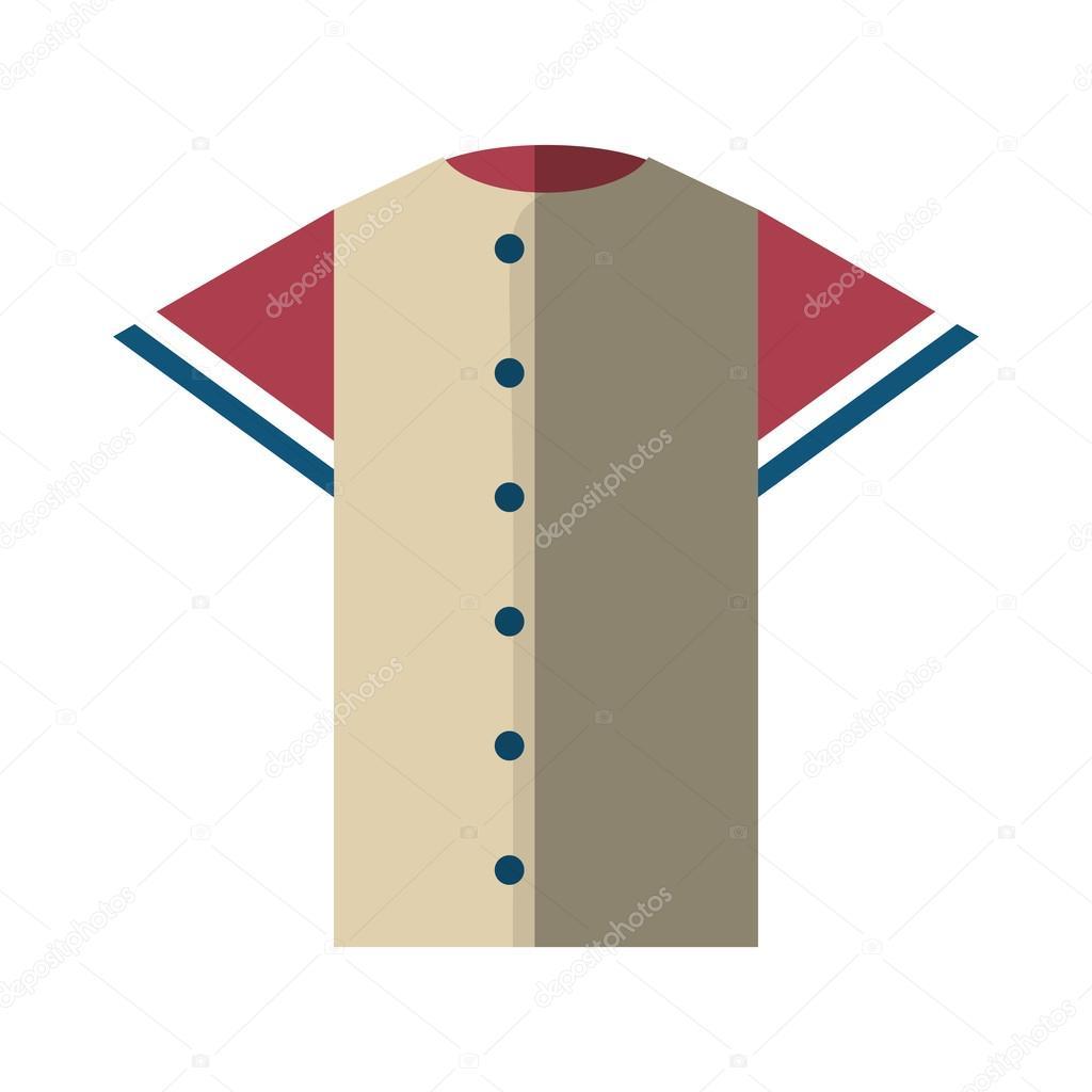 Shirt uniform design vector - Shirt Uniform Baseball Team Icon Vector Illustration Design Vector By Djv
