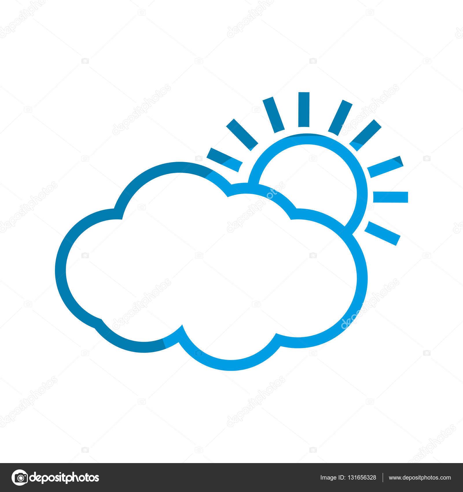 天气太阳云图标矢量图平面设计– 图库插图