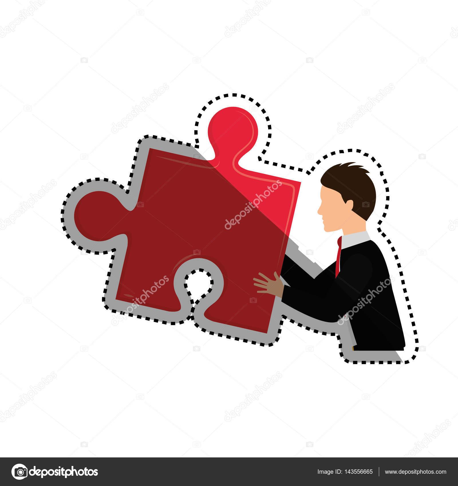 拼图块图标矢量图平面设计– 图库插图