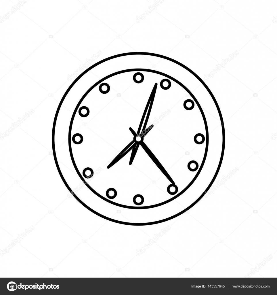 时钟简笔画卡通