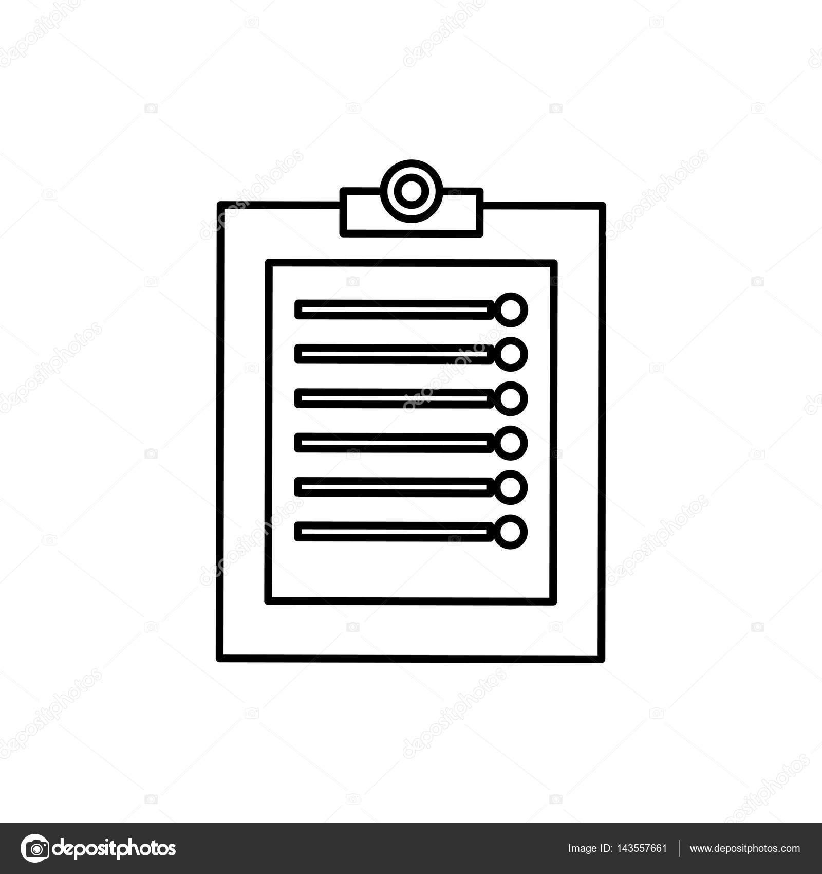 清单文件表图标矢量图平面设计– 图库插图