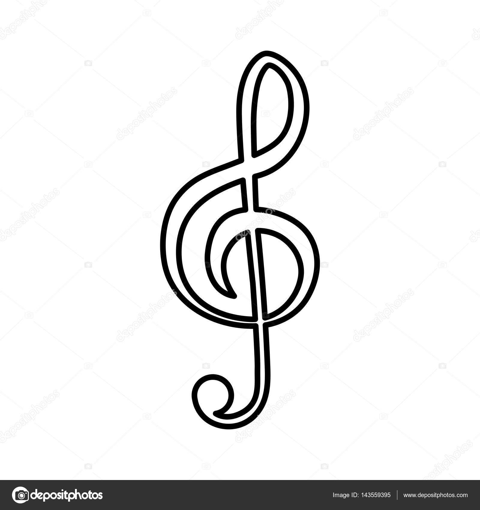 音乐注意符号图标矢量图平面设计– 图库插图