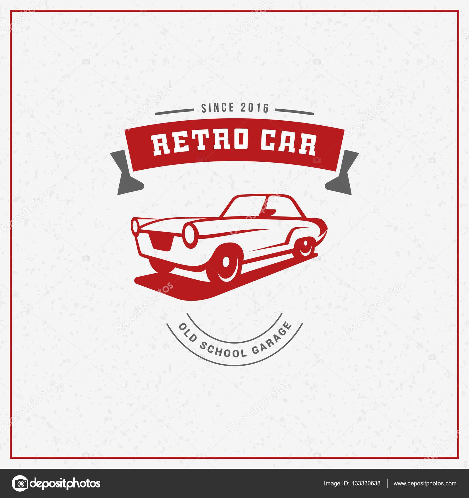 Design car club logo - Classic Car Logo Emblem Badge Service Car Repair Car Restoration And Car Club Design Elements Vector Illustration Red And Gray On Light Background