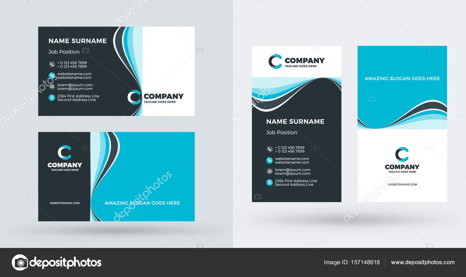 Business Card Website Template Free