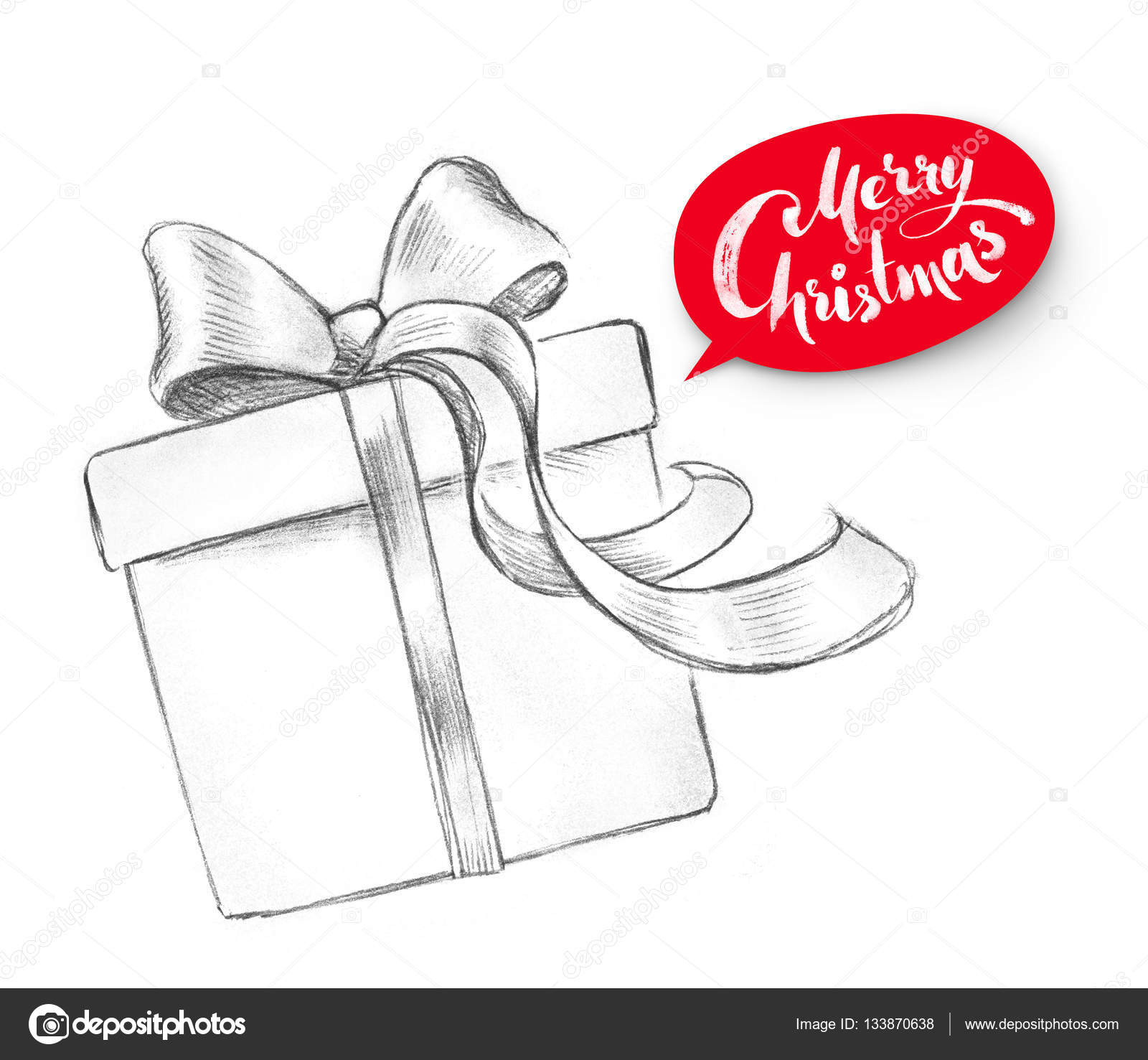 Подарок нарисованный карандашом фото