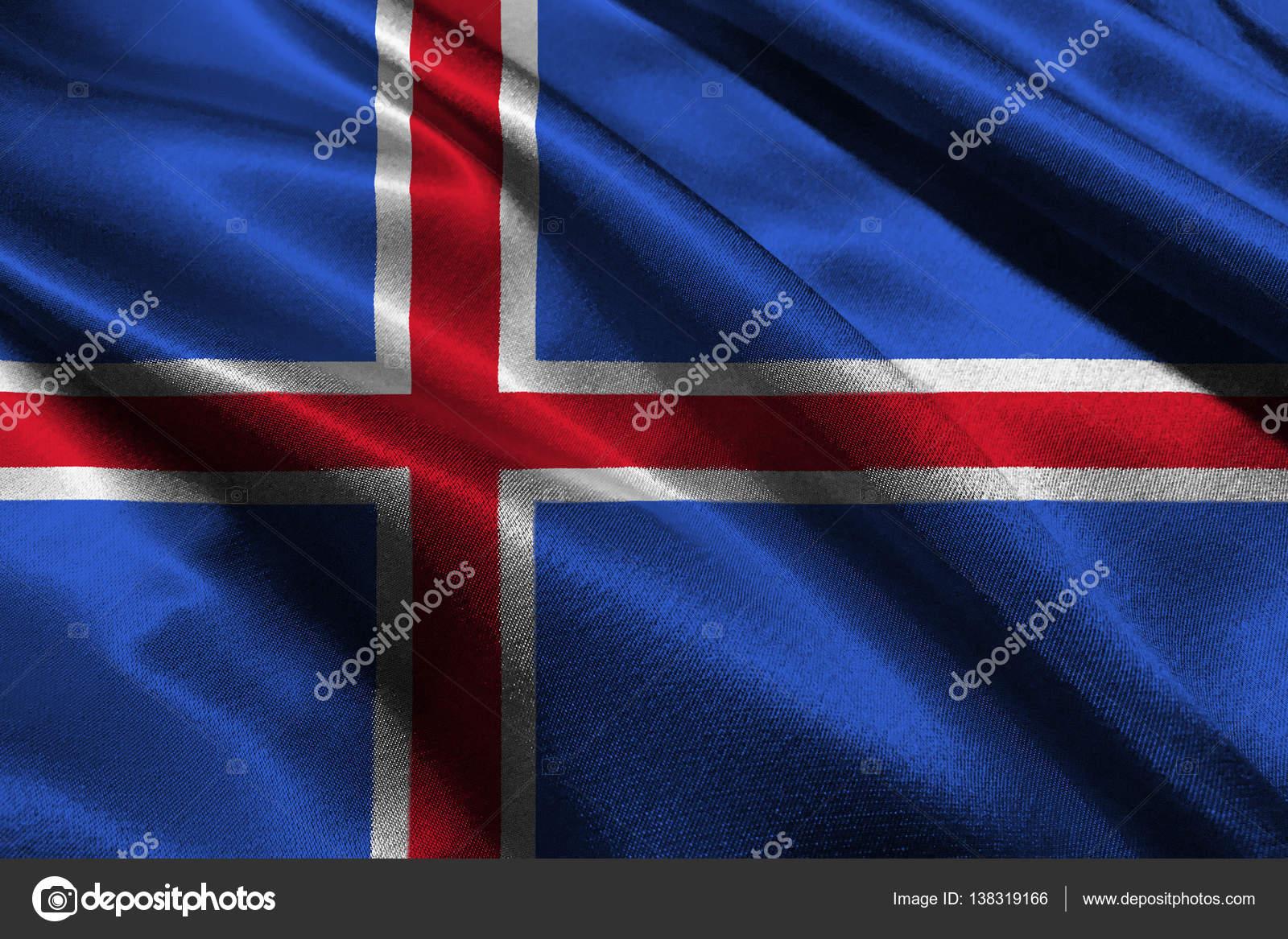 冰岛国旗国旗 3d 图符号