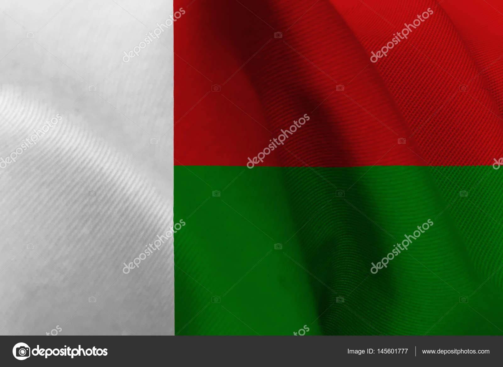 马达加斯加国旗 3d 图符号